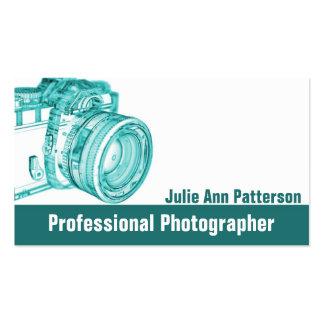 Cartes de visite bleus de photographe d'appareil-p carte de visite standard