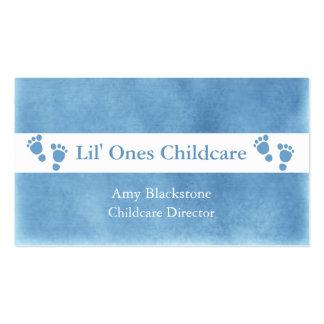 Cartes de visite bleus et blancs d'empreintes de p cartes de visite professionnelles
