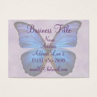 Cartes de visite bleus magnifiques de papillon de