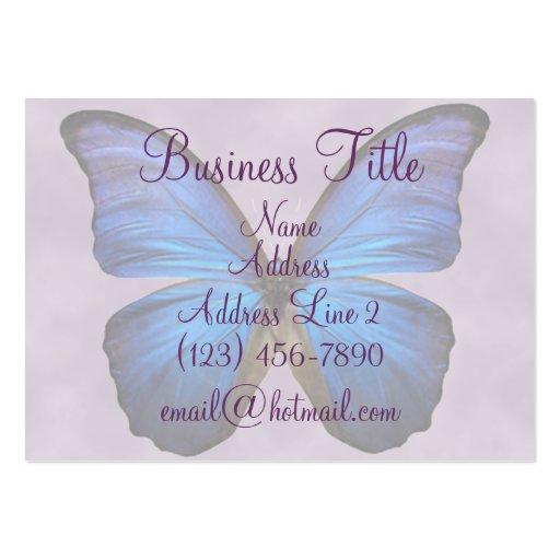 Cartes de visite bleus magnifiques de papillon de  modèle de carte de visite
