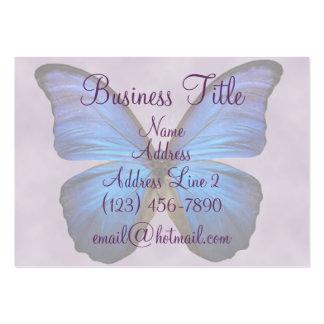 Cartes de visite bleus magnifiques de papillon de  carte de visite grand format