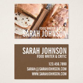 Cartes De Visite Blog de nourriture de chef de pâtisserie de