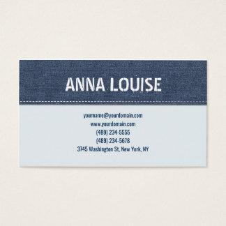 Cartes De Visite Blue jeans simple