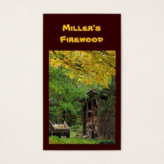 Cartes De Visite Bois de chauffage