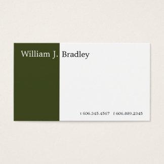 Cartes De Visite Boîte verte