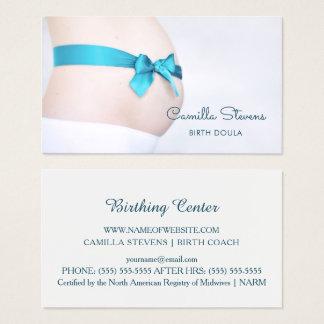 Cartes De Visite Bosse enceinte de bébé de Doula d'accouchement