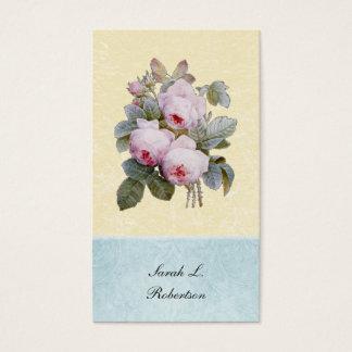 Cartes De Visite Botanique de rose de l'anglais personnalisé
