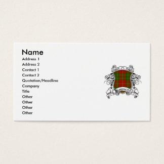 Cartes De Visite Bouclier de tartan de Burnett
