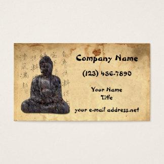 Cartes De Visite Bouddha a vieilli la calligraphie asiatique de