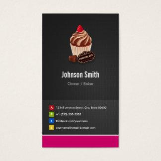 Cartes De Visite Boulangerie de pâtisserie de petit gâteau de