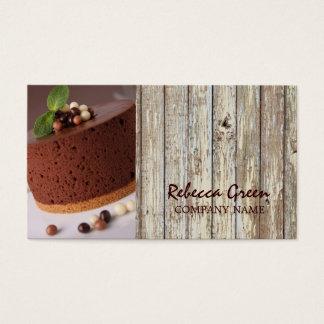 Cartes De Visite boulangerie rustique de gâteau de chocolat de