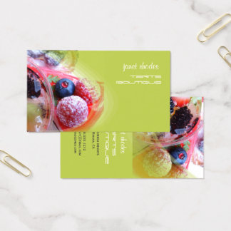 Cartes De Visite Boulangers, polices de la pâtisserie shops/DIY