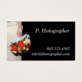 Cartes De Visite Bouquet à disposition sur le noir