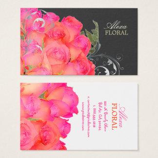 Cartes De Visite Bouquet nuptiale de PixDezines, couleurs des