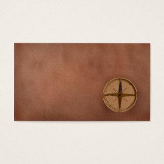 Cartes De Visite boussole sur le vieux papier