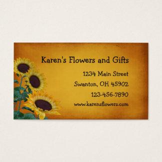 Cartes De Visite Boutique de cadeaux de métier de fleur