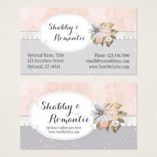 Cartes De Visite Boutique de couture florale rustique chic minable