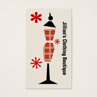 Cartes De Visite Boutique de magasin d'habillement - mannequin
