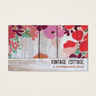 Cartes De Visite Boutique en bois florale d'expédition d'art de