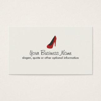 Cartes De Visite Boutique rouge de chaussure de pompe de dames