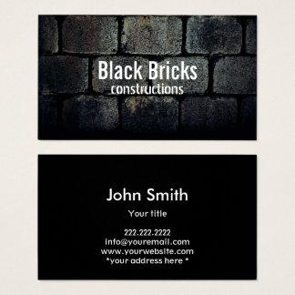 Cartes De Visite Briques foncées élégantes de construction