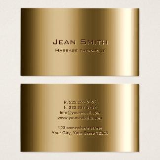 Cartes De Visite Bronze en métal de thérapeute de massage