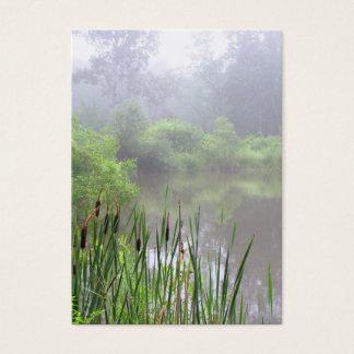 Cartes De Visite Brume de matin sur l'ATC d'étang
