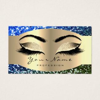 Cartes De Visite Bruns bleus de menthe de mèche de maquilleur de