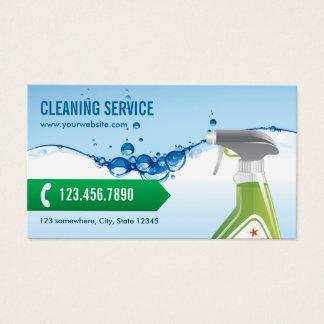 Cartes De Visite Bulles professionnelles de l'eau bleue de service