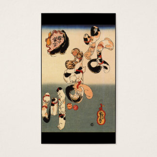 Cartes De Visite C. de peinture japonais 1800's
