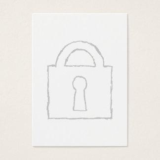 Cartes De Visite Cadenas. Top secret ou icône de sécurité