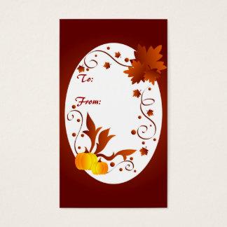 Cartes De Visite Cadre d'automne - Gifttag