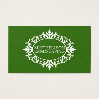 Cartes De Visite Cadre floral vert