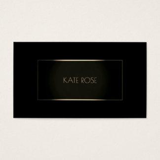 Cartes De Visite Cadre noir moderne contemporain VIP de champagne