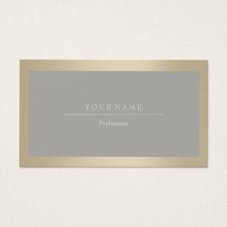 Cartes De Visite Cadre professionnel élégant VIP métallique gris en