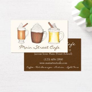 Cartes De Visite Café beurré de café-restaurant de rhum de cacao