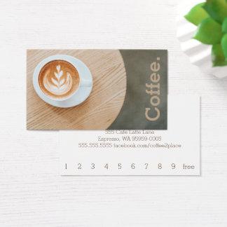 Cartes De Visite Café de conception sur le café simple de fidélité