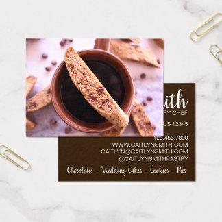 Cartes De Visite Café de nourriture de chef de pâtisserie de