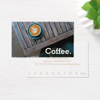 Cartes De Visite Café simple de fidélité de Tableau de carré de
