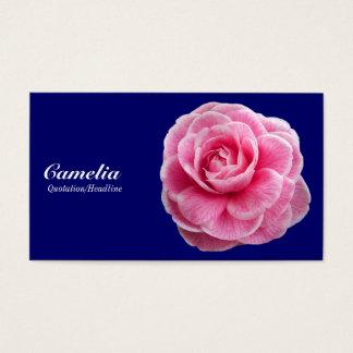 Cartes De Visite Camelia rose - bleu marine 000066
