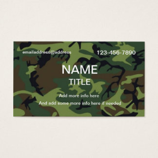 Cartes De Visite Camouflage de jungle