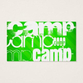 Cartes De Visite Camp ; Rayures vertes au néon