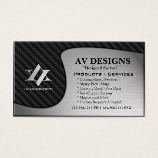 Cartes De Visite Carbone abstrait de Yin Yang/aluminium balayé