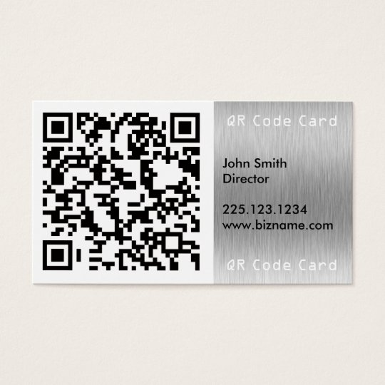 Cartes De Visite Carre Analysable Code Barres QR