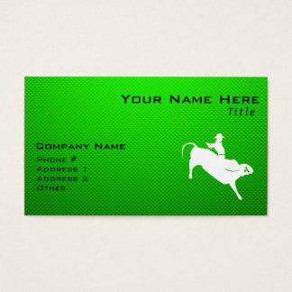 Cartes De Visite Cavalier vert de Taureau