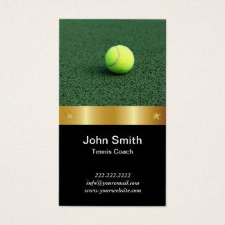 Cartes De Visite Ceinture royale d'or d'entraîneur de tennis