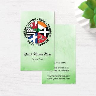Cartes de visite celtiques de coutume de drapeaux