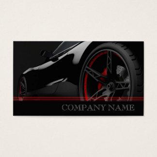 Cartes De Visite Centre rapide noir des véhicules à moteur de