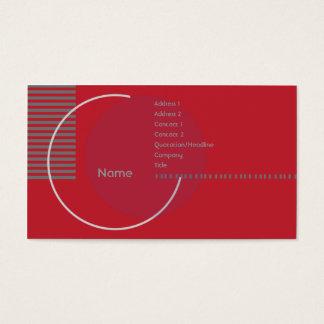 Cartes De Visite Cercle géométrique rouge - affaires