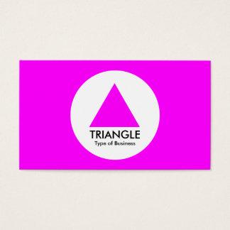 Cartes De Visite Cercle - triangle - magenta